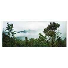 Clouds over mountains Andes Cusco Region Peru Poster