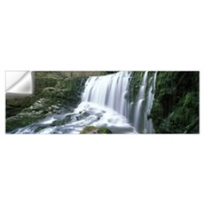Waterfall Sgwd Isaf Clun Gwyn River Mellte Brecon  Wall Decal