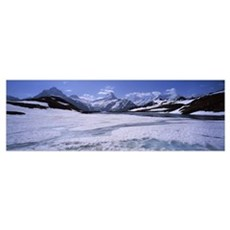 Snow covered landscape Bachalpsee First Grindelwal Poster