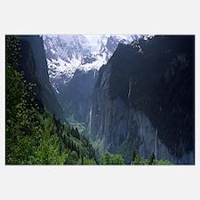 Waterfalls in a forest Lauterbrunnen Valley Wengen