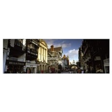 Buildings in a town Eastgate Clock Chester Cheshir Canvas Art