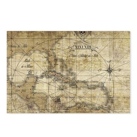 World of Pirates Postcards (Package of 8)