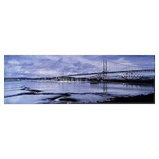Bridges across a river Firth Of Forth Road Bridge  Poster