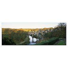 Viaduct across a river River Nidd Knaresborough No Poster