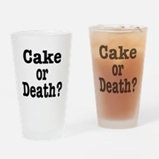 Cake or Death Black Drinking Glass
