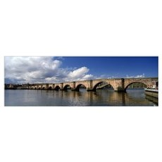 Arch bridge across a river Berwick Bridge Tweed Ri Poster