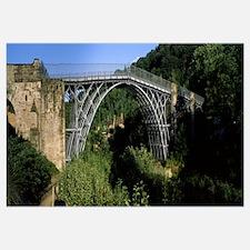 Arch bridge across a ravine Ironbridge Ironbridge