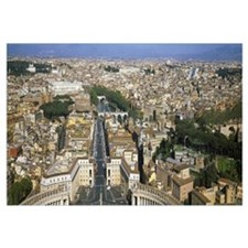 Overview of the historic centre of Rome from the d