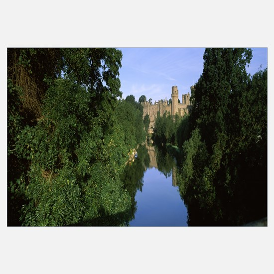 Castle at the riverbank Warwick Castle Avon River