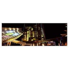 City lit up at night Citycenter The Strip Las Vega Poster