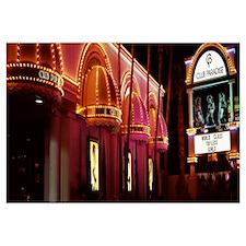 Strip club lit up at night Las Vegas Nevada