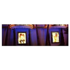 Strip club lit up at night Las Vegas Nevada Poster