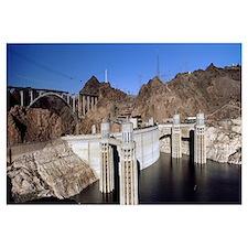 Dam on a river Hoover Dam Colorado River Arizona N