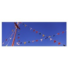 Pennants on a boat Tarpon Springs Pinellas County Poster