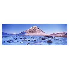 Snowcapped mountain Buachaille Etive Mor Highlands Poster