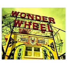 Entrance to the Wonder Wheel, Coney Island, Brookl Poster