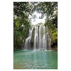 Llanos De Cortez Waterfall, La Libertad, Guanacast Poster