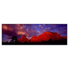 Rocks at Sunset Sedona AZ Poster