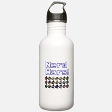 Nerd Wars 8-Bit no Background Sports Water Bottle