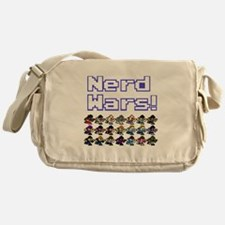 Nerd Wars 8-Bit no Background Messenger Bag