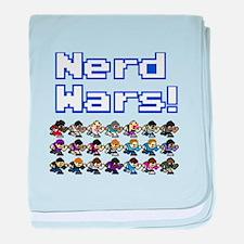 Nerd Wars 8-Bit no Background baby blanket