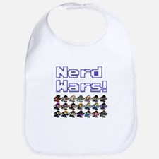 Nerd Wars 8-Bit no Background Bib