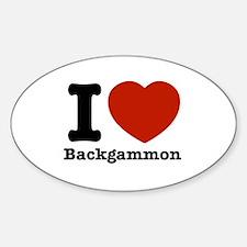 I love Backgammon Decal