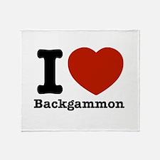I love Backgammon Throw Blanket