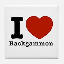 I love Backgammon Tile Coaster