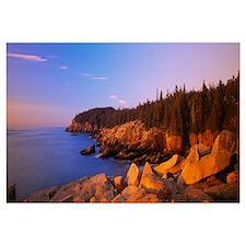Rocks on the coast, Acadia National Park, Maine, N