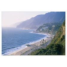 High angle view of the beach, Malibu, Pacific Pali