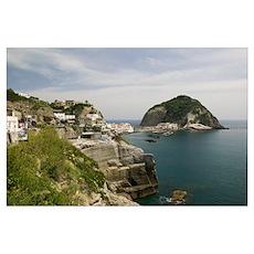 Building on a hilltop, Ischia, Naples, Campania, I Poster