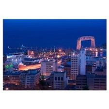 High angle view of a city, Canal Park, Duluth, Min