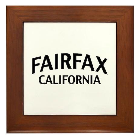 Fairfax California Framed Tile