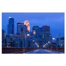 Buildings in a city, Minneapolis, Minnesota Poster