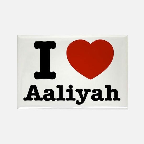I love Aaliyah Rectangle Magnet