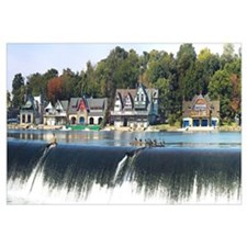 Boathouse Row at the waterfront, Schuylkill River,