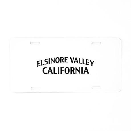 Elsinore Valley California Aluminum License Plate