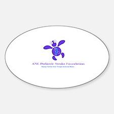 Unique Turtle logos Sticker (Oval)