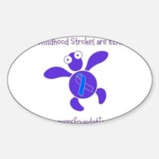 Cool Turtle logos Sticker (Oval)