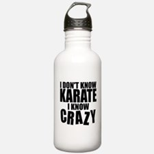 """""""I Don't Know Karate..."""" Water Bottle"""