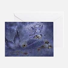 Dark Mermaid Greeting Card