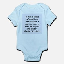 chester nimitz Infant Bodysuit