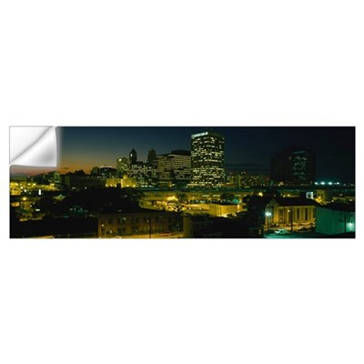 City lit up at night, Newark, New Jersey Wall Decal