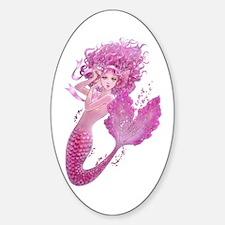 Pink Ribbon Mermaid Decal