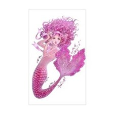 Pink Ribbon Mermaid Decal