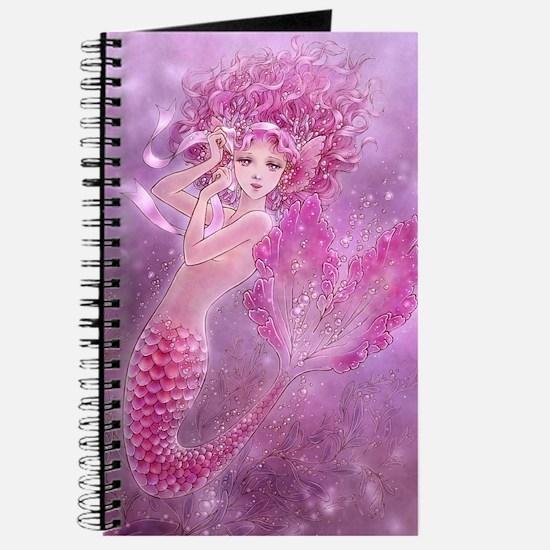 Pink Ribbon Mermaid Journal
