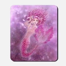 Pink Ribbon Mermaid Mousepad