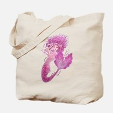 Pink Ribbon Mermaid Tote Bag