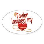 Taylor Lassoed My Heart Sticker (Oval)